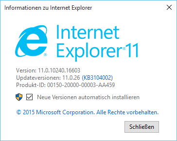 Browser Internet Explorer 11